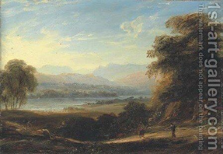 View of Langdale Pikes and Ullswater by Anthony Vandyke Copley Fielding - Reproduction Oil Painting