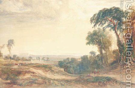The Vale of Neath by Anthony Vandyke Copley Fielding - Reproduction Oil Painting