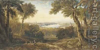An extensive view of Greenwich, London by Anthony Vandyke Copley Fielding - Reproduction Oil Painting