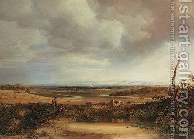 Distant view of the Cumberland Hills from Eskdale by Anthony Vandyke Copley Fielding - Reproduction Oil Painting