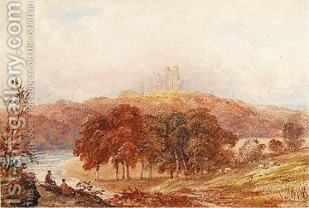 Penrhyn castle, Caernarvonshire by Anthony Vandyke Copley Fielding - Reproduction Oil Painting