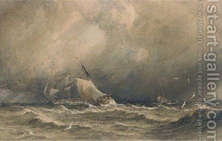 Sea piece by Anthony Vandyke Copley Fielding - Reproduction Oil Painting