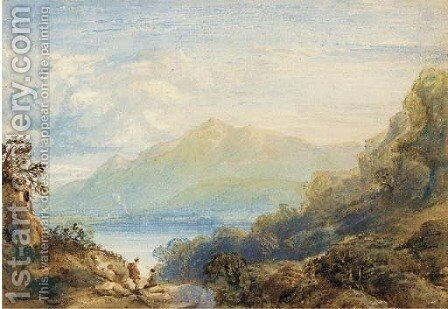 Skiddaw from Derwentwater by Anthony Vandyke Copley Fielding - Reproduction Oil Painting