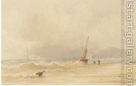 Sussex coast by Anthony Vandyke Copley Fielding - Reproduction Oil Painting