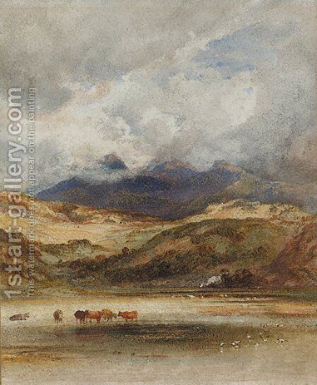 Traeth Mawr, Port Maddock, North Wales by Anthony Vandyke Copley Fielding - Reproduction Oil Painting