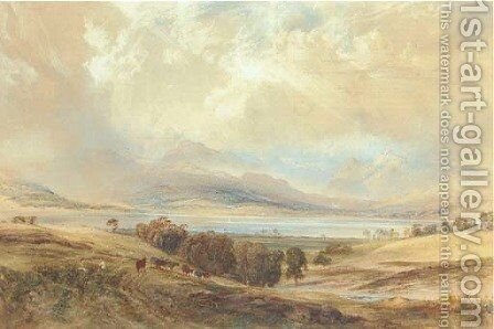 View of Langdale Pikes and Bow Fell, over Windermere, Westmoreland by Anthony Vandyke Copley Fielding - Reproduction Oil Painting