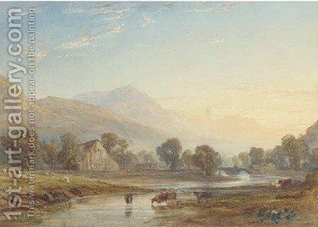 On the Glaslyn, North Wales by Anthony Vandyke Copley Fielding - Reproduction Oil Painting