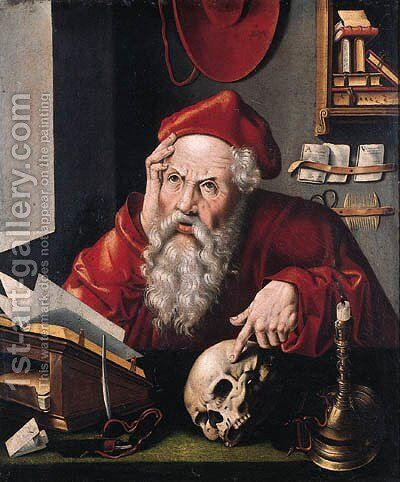 Saint Jerome by Anthony Vreem - Reproduction Oil Painting