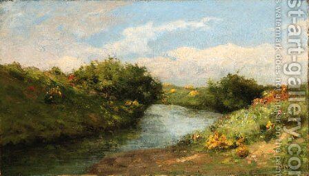 Landscape by Antoine Chintreuil - Reproduction Oil Painting