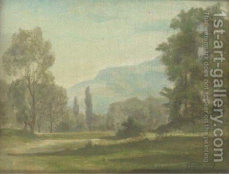 Paysage by Antoine Chintreuil - Reproduction Oil Painting