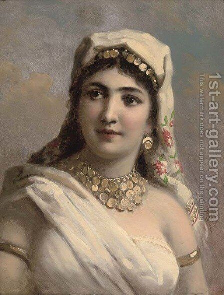 The gypsy girl by Antoine Auguste Ernest Hebert - Reproduction Oil Painting