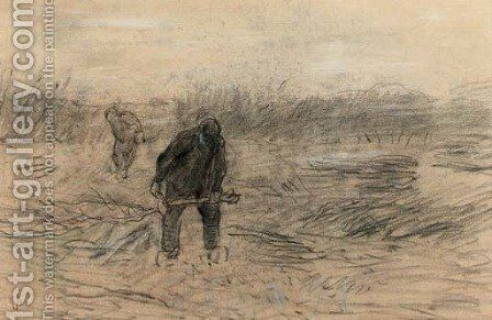 Gathering wood - a study by Anton Mauve - Reproduction Oil Painting