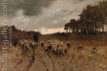 Homeward bound by Anton Mauve - Reproduction Oil Painting