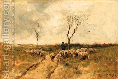 Untitled by Anton Mauve - Reproduction Oil Painting