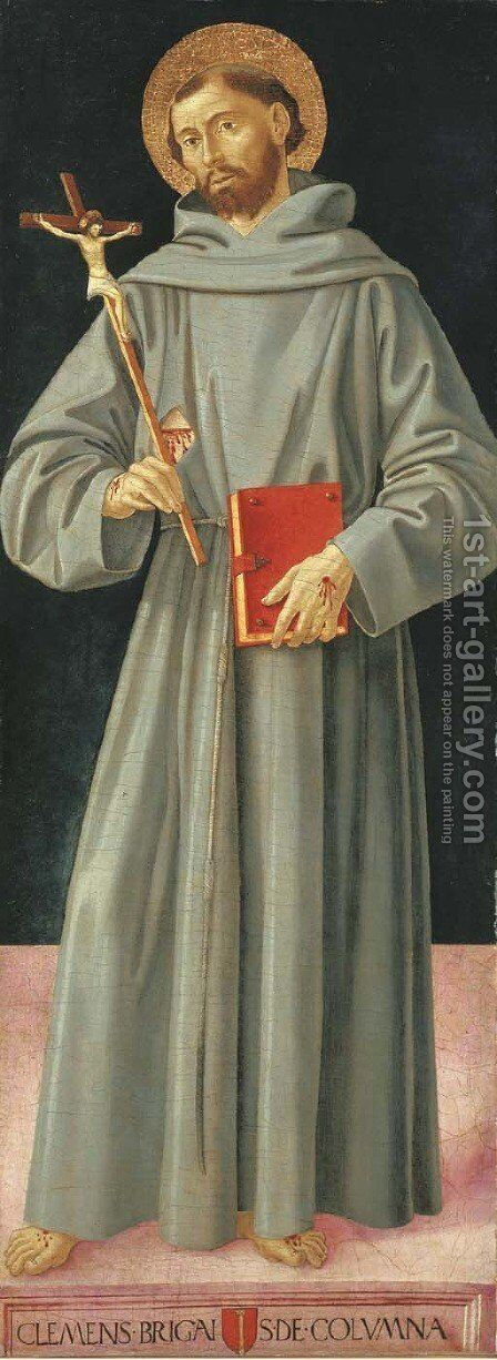 Saint Francis of Assisi by Antoniazzo Romano - Reproduction Oil Painting