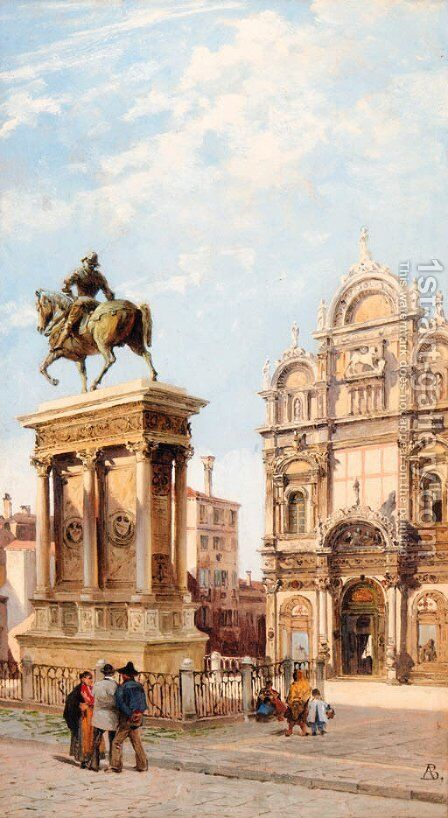 Piazza San Marco, Venice by Antonietta Brandeis - Reproduction Oil Painting