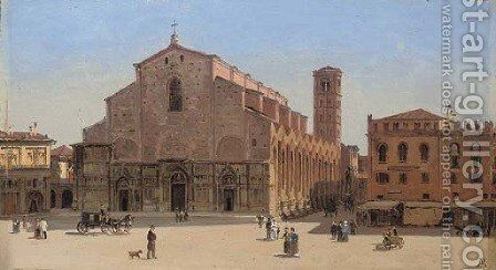 San Petronio, Bologna by Antonietta Brandeis - Reproduction Oil Painting