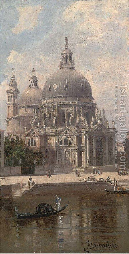 Santa Maria della Salute, Venice 2 by Antonietta Brandeis - Reproduction Oil Painting