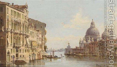 The Grand Canal before Santa Maria della Salute, Venice by Antonietta Brandeis - Reproduction Oil Painting