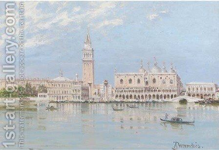 The Piazza San Marco and the Doge's Palace, Venice by Antonietta Brandeis - Reproduction Oil Painting