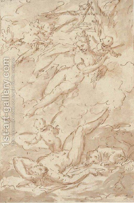 Diana and Endymion by Antonio Bellucci - Reproduction Oil Painting