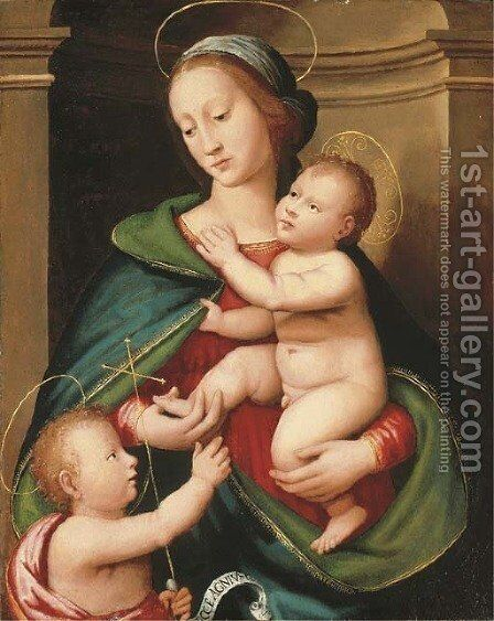The Madonna and Child with the Infant Saint John the Baptist 2 by Antonio del Ceraiolo - Reproduction Oil Painting