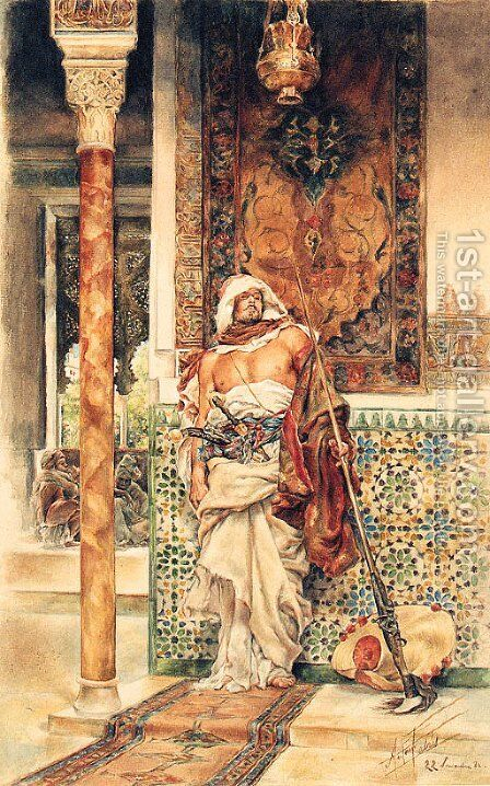 The Palace Guard by Antonio Maria Fabres Y Costa - Reproduction Oil Painting