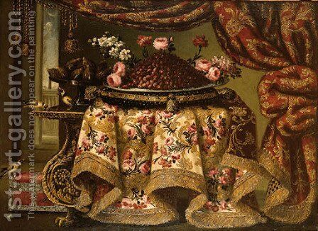 Still life by Antonio Gianlisi The Younger - Reproduction Oil Painting