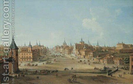 The Calle de Alcale, Madrid by Antonio Joli - Reproduction Oil Painting