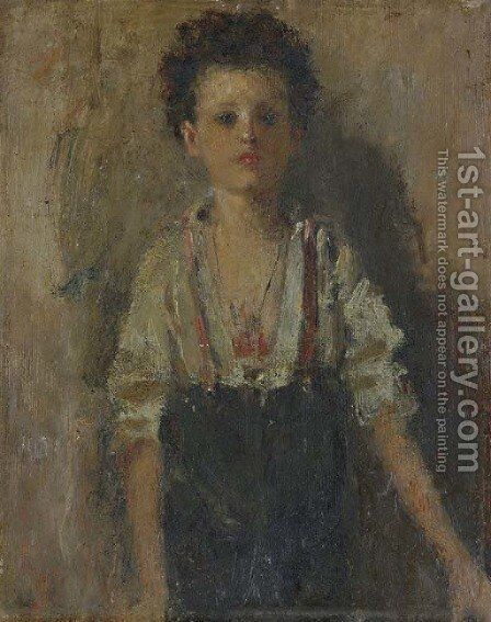 A Young Boy ('Lo Scugnizzo') by Antonio Mancini - Reproduction Oil Painting