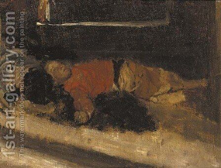 Il ragazzino addormentato by Antonio Mancini - Reproduction Oil Painting
