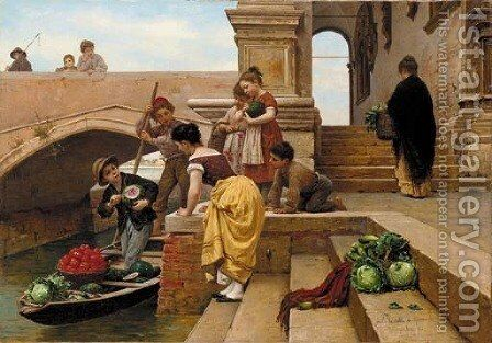The Young Merchant by Antonio Paoletti - Reproduction Oil Painting
