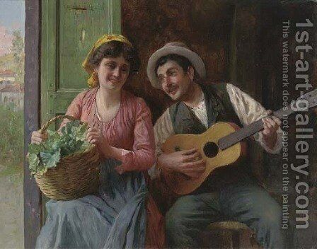 A merry ditty by Antonio Zoppi - Reproduction Oil Painting