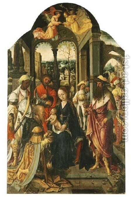 The Adoration of the Magi by Antwerp School - Reproduction Oil Painting