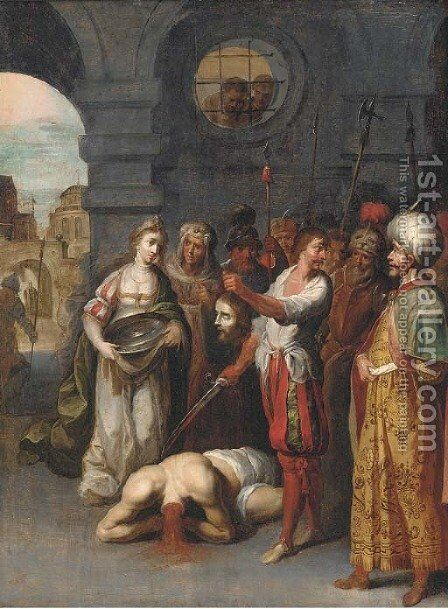 The Decollation of the Baptist by Antwerp School - Reproduction Oil Painting