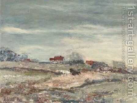 Houses on a moor by Archibald Kay - Reproduction Oil Painting