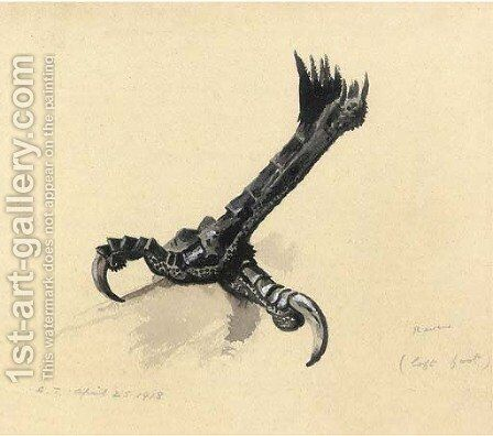 A raven's left foot by Archibald Thorburn - Reproduction Oil Painting