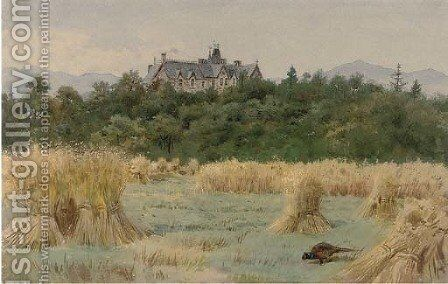 Dundarroch Lodge, Pitlochry, Perthshire by Archibald Thorburn - Reproduction Oil Painting