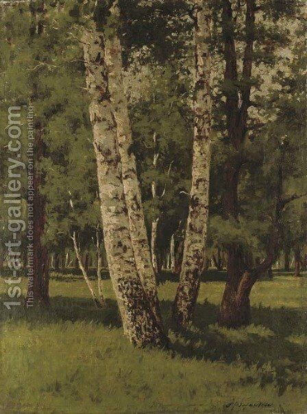 Birch trees by Arkhip Ivanovich Kuindzhi - Reproduction Oil Painting