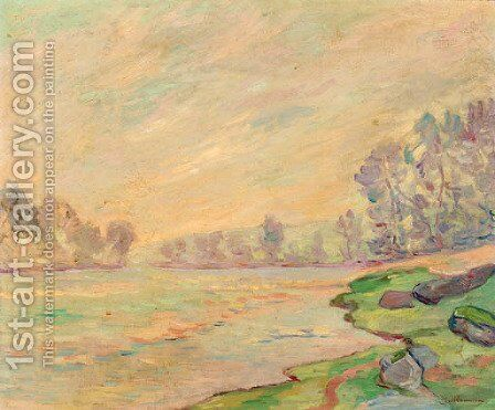 A tranquil river landscape by Armand Guillaumin - Reproduction Oil Painting