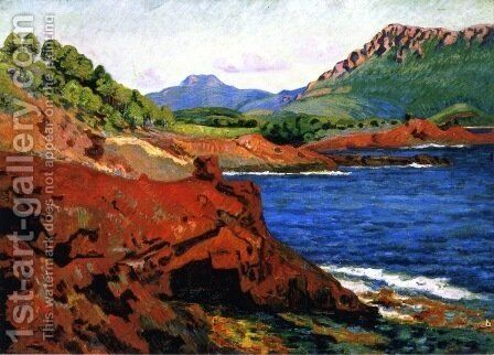 Agay, la pointe du Dramont Saint-Martin by Armand Guillaumin - Reproduction Oil Painting