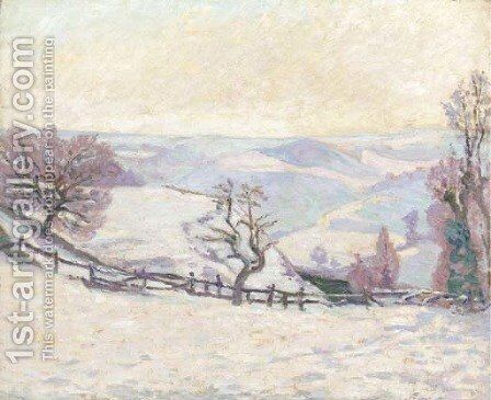 Gelee blanche au Puy Barriou, Crozant by Armand Guillaumin - Reproduction Oil Painting