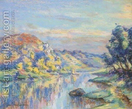 La Roche de l'Echo, Crozant 3 by Armand Guillaumin - Reproduction Oil Painting