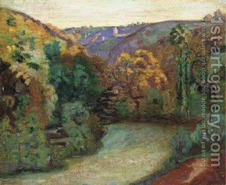 Le gouffre saulnier, Crozant by Armand Guillaumin - Reproduction Oil Painting