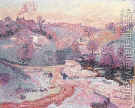 Le pont Charraud by Armand Guillaumin - Reproduction Oil Painting