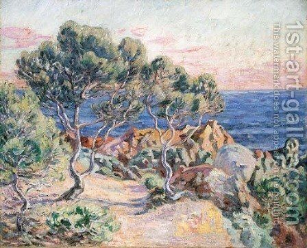Les rochers a Agay by Armand Guillaumin - Reproduction Oil Painting