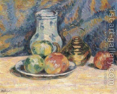 Nature morte (pommes) by Armand Guillaumin - Reproduction Oil Painting