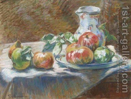 Nature morte aux fruits by Armand Guillaumin - Reproduction Oil Painting