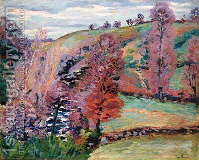 Paysage de Crozant (Landscape of Crozant) by Armand Guillaumin - Reproduction Oil Painting