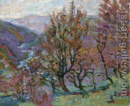 Paysage de la creuse by Armand Guillaumin - Reproduction Oil Painting